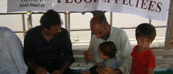 Flood Relief and Medical Camp at Akora Khattak